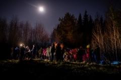 """Nakts pārgājienā """"Spocīns Jocīns"""" iepazīst Mācītājmuižu Foto: Agnis Melderis"""