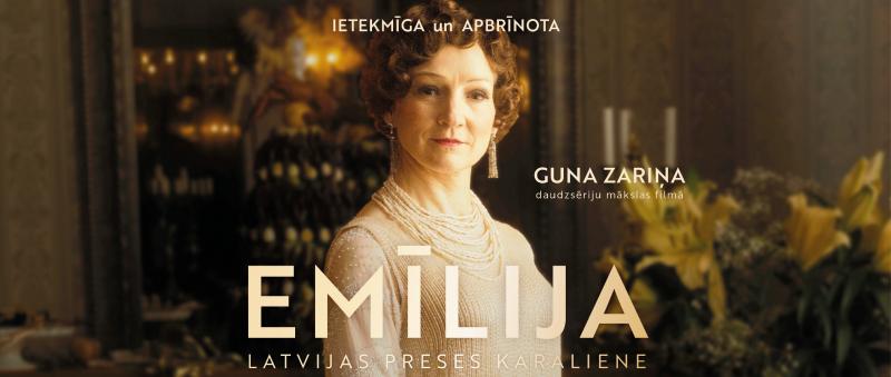"""Spēlfilmas cikls """"Emīlija. Latvijas preses karaliene"""" Gaujienas tautas namā"""